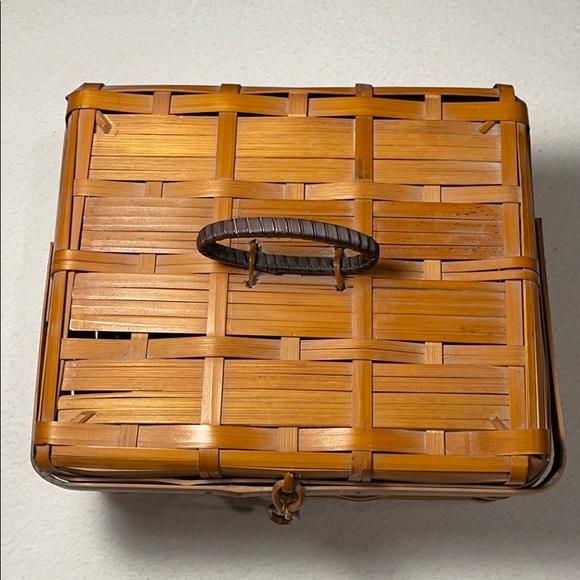 One Vintage Occupied Japan Split Bamboo Basket